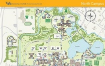Map of UB's North Campus.