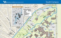 Map of UB's South Campus.