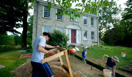 Archaeological excavation at Hull House