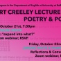 Creeley Event Poster