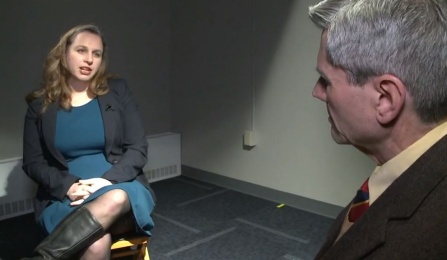 Image of Dr. Monica Stephens during an interview. .