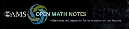 AMS Open Math Notes.