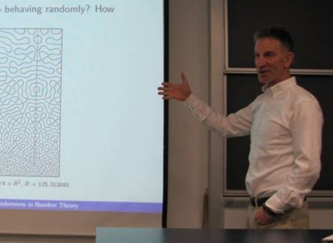 Professor Peter Sarnak from Princeton University presented the Myhill Lecture Series 2012-13.