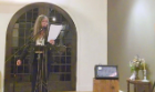 Alice Notley reads from her work at the Western New York Book Arts Collective in downtown Buffalo on April 24, 2014.
