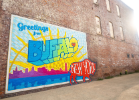 Greetings from Buffalo Mural 461 Ellicott St., Buffalo, N.Y. Stephen Gabris photographer