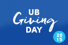 In 2015, UB alumni and friends from around the world support a 24-hour giving blitz on the inaugural UB Giving Day.