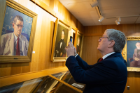 Irish Ambassador Daniel Mulhall gets a private tour of UB's world-renowned James Joyce Collection, fulfilling a dream. Photo by Meredith Forrest Kulwicki.