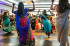 Dancers perform during a Mock Shaadi, a lively simulation of the rituals and festivities of a traditional Pakistani wedding. Photo by Douglas Levere.