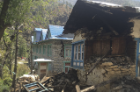 The earthquake-damaged home of a relative of a member of Hahn's Sherpa climbing team. Photo: Dave Hahn