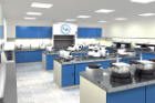 A redesigned wet lab is among the state-of-the-art teaching and learning facilities that will comprise the expanded Preclinical Simulation Laboratory of the dental school. Image: UB School of Dental Medicine.