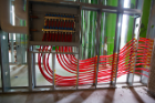 The workings for the in-floor radiant heating system. Photo: Douglas Levere