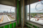 The dean's office provides fantastic views of Lake Erie, to the right, and downtown Buffalo. Photo: Douglas Levere
