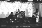 The Theater of Eternal Music, also known as The Dream Syndicate, performing at the Amagansett in Midsummer '66 festival. The multimedia ensemble, which featured a number of rotating members (including, from left in foreground, Terry Riley, Marian Zazeela, La Monte Young and Tony Conrad) focused on drone music—an experimental genre that was later popularized by Lou Reed and the Velvet Underground. Photo: Fredrick Eberstadt