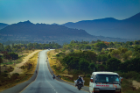On the road to the Mara Region in Tanzania, where students learned about social innovation and marketing through interactions with UB partners.