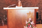 Burstein, 12, at her bat mitzvah