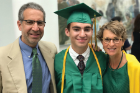 Gale Burstein with Peter Bloom and son Zachary at Zachary's graduation