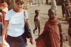 Gale Burstein in Kenya as a high school student