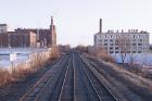 "From ""See It Through Buffalo."" The New York Central Belt Line, completed in 1882, continues to connect the few remaining industries scattered along its 15-mile route. Active Connections © John Paget"