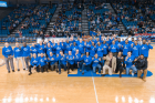 MBB 100 seasons halftime commemoration. Photo: Paul Hokanson