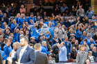 There was a sea of UB blue in Quicken Loans Arena in Cleveland on Saturday for the MAC Championship game.