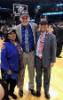 Coach Nate Oats with President Satish K. Tripathi and his wife, Kamlesh Tripathi.