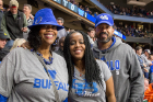 In Boise to support freshman guard Jayvon Graves are, from left, Graves' aunt, Souleatha Calmese; his mom, Brandy Pryor; and his stepfather, Jim Ladson.
