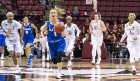 UB guard Stephanie Reid leaves several Florida State players in her wake as she heads toward the UB basket.