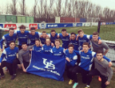 The team, photographed after their first training session at the Queens Park Rangers training facility.