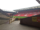 A view of Anfield, the historic home of the Liverpool Football Club.