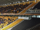 This shot was taken from the stands at the stadium of the Wolverhampton Wanderers, who play in England's second-highest division.