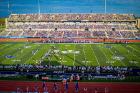 A full house for a perfect day for football. Photo: Douglas Levere