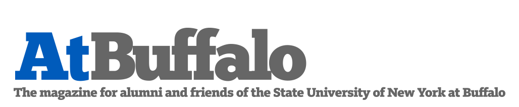 At Buffalo Logo, The magazine for alumni and friends of the State University of New York at Buffalo