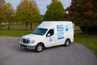 UB mail truck with branded graphics