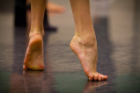 A dancer's feet.