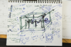 Engineering sketch with notes.