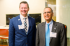 President Tripathi and VP of University Advancement, Rodney Grabowski, at the Boldly Buffalo event in NYC.
