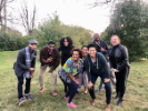 2020-21 Distinguished Visiting Scholars in Buffalo. l-r: John Eason, Nicholas Githuku, Terri Watson, Victoria Udondian, Patricia Matthew, Vanessa Holden, Waverly Duck, Mishuana Goeman (Eli Clare, not pictured)