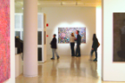 Inside the Center for the Arts, where the UB Art Gallery is housed