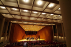 Inside the 700-seat Lippes Concert Hall, with its beautiful C.B. Fisk organ