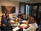 Students and Cultural Partners share a family meal.
