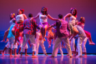 Immigration is the theme of the Latin American SA's performance, told through Latin dances from South America, the Caribbean and the streets of New York City. Photo: Douglas Levere
