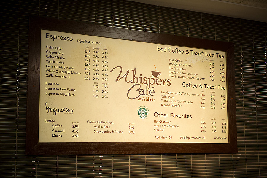 Whispers Cafe Menu