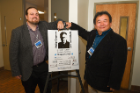 Symposium organizers included Jason Benedict (left), UB assistant professor of chemistry, and Yu-Sheng Chen, a beamline scientist at the University of Chicago and the Advanced Photon Source.