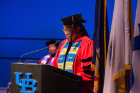 Teresa Miller shared remarks with graduates
