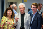 Barry Smith lifts a glass to his former students, Festschrift volume co-editors and reception organizers Gloria Zúñiga y Postigo and Gerald Erion.