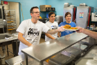 Christopher Keough.Carmella Marinaccio and Jomarie Woltz serve meals at the City Mission.