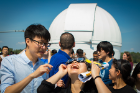 Jessica Huang excitedly observed the August 21 eclipse