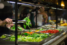 A salad bar provides a healthy menu option. Photo: Meredith Forrest Kulwicki
