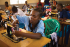 A sewing project helps girls earn an income and delay marriage.
