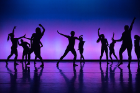 Student dancers performing during a dress rehearsal of the fall season's Zodiaque Dance Company concert.
